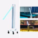 Оригинал              Стерилизатор Лампа 220V 50HZ 60W профессиональный UVC дезинфекции машины подвижные с приспособлением, UV бактерицидным светом для фабрики / Школа