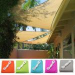 Оригинал              3x3x3m Треугольная палатка Зонт от солнца Парус Водонепроницаемы 90% UV Навес от солнца Кемпинг Патио Сад Тент для палатки Зонт