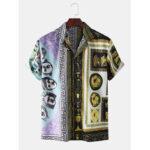Оригинал              Рубашки с принтом в стиле барданы и воланами с коротким рукавом