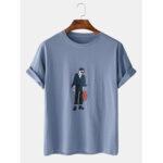 Оригинал              Мужская мультфильм Cool Boy Print Crew Шея Повседневные футболки с коротким рукавом