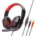 Оригинал              Soyto SY733MV PC 3,5 мм Проводные игровые наушники Bass Gaming Headset Stereo Наушники Наушник с Микрофон для компьютерных ПК Gamer