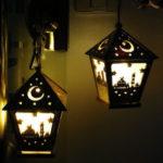 Оригинал              LED DIY Дом деревянный Лампа Фестиваль декоративный ночной свет Ид Мубарак Рамадан