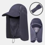 Оригинал              Складная солнцезащитная крышка Face Visor На открытом воздухе Рыбалка Шапка Летняя быстросохнущая кепка Breathable Шапка Бейсболка