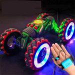 Оригинал              2.4 Г Жест Датчик Витой RC Stunt Авто Легкая Музыка Дистанционное Управление Танцующий Грузовик для Детей Игрушки Модель Автомобиля