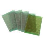 Оригинал              5шт 5×7см 5 * 7 Односторонний прототип печатной платы DIY Универсальная печатная плата Стекловолокно Универсальная плата Зеленый Масло Эпокси