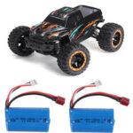 Оригинал              HBX 16889 с двумя Аккумуляторы 1/16 2.4G 4WD 45 км / ч Бесколлекторный RC Авто Светодиодный Модель RTR для бездорожья