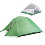 Оригинал              Naturehike NH17T001-T 2 Легкая легкая палатка для стоящих Dome Кемпинг Пешие прогулки Водонепроницаемы Рюкзак Палатки