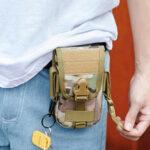 Оригинал              Men Mini Waist Сумка Телефон Сумка Визитница тактическая Сумка На открытом воздухе Сумка