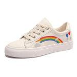 Оригинал              Женские низкие кеды Rainbow Comfy удобные носимые с плоским носком