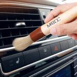Оригинал              MATCC 2PCS Авто Деталь Щетка Очистка Щетка Премиум щетина с деревянной ручкой