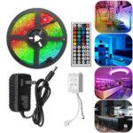 Оригинал              5M RGB 5050 Водонепроницаемы LED Светодиодная лента SMD с 44-клавишным контроллером Дистанционный