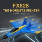 Оригинал              Flybear FX828 Hornet Fighter 290 мм Размах крыльев 2,4 ГГц 2CH EPP RC Самолет Warbird RTF