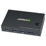 Оригинал              AIMOS USB HDMI-переключатель Коробка Видеокоммутатор Дисплей 4K сплиттер KVM-переключатель для 2 ПК Share Switcher Клавиатура Мышь Принтер Plug and Play
