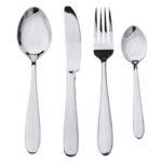 Оригинал              4шт из нержавеющей стали столовые приборы столовые приборы столовые приборы вилка ложки набор посуды для кухни обеденный стол Инструмент