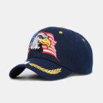 Оригинал              Мужская Мужская На открытом воздухе Бейсболка США Eagle Вышивка Хлопок Дышащий Козырек Козырек