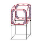 Оригинал              Gemfan AC-TZ01-80 Четыре стороны через FPV Cube Race Gate C Базовый комплект 80×80см для RC Дрон На открытом воздухе Крытый гоночный полет