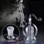 Оригинал              18см светящийся стакан для воды курительные трубки посуда Herb Pipe с светом LED