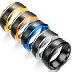 Оригинал              Bakeey Многофункциональные часы Партнер Датчик температуры Интеллектуальное титановое кольцо Smart Smart Ring Изменение цвета