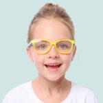 Оригинал              Детский анти-синий свет Очки игровой компьютер телефон анти-излучения мужчин и женщин плоский Объектив Силиконовый очки Soft оправа