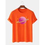 Оригинал              Мужская повседневная футболка с коротким рукавом из 100% хлопка Розовый