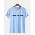 Оригинал              Mens Loose Slogan Повседневные футболки с коротким рукавом с круглым вырезом Шея