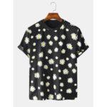 Оригинал              Мужская Paisy Printing Дизайн Экипаж Шея Дышащие повседневные футболки