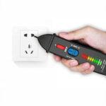 Оригинал              AIMOMETER-AVD07 Бесконтактный детектор напряжения Teste Разъем Настенная розетка переменного тока Тест в реальном времени Ручка Индикатор 12 ~ 1000 В С