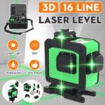 Оригинал              16 Линия 360 Горизонтальный Вертикальный Крест 3D Зеленый Свет Лазер Уровень Самовыравнивающаяся Мера Супер Мощный Лазер Луч