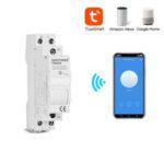 Оригинал              SINOTIMER TM609 Home Smart 18мм 1P WiFi Дистанционный APP Автоматический выключатель Синхронизация времени Лестница Таймер Din-рейка Универсальный 110В 220В AC I