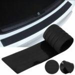 Оригинал              Автомобиль внедорожник задний багажник порог Пластина Защитная накладка на бампер Защитная накладка резиновая накладка черный