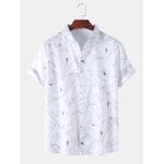 Оригинал              Мужская дизайнерская рубашка с геометрическим принтом и рубашками с коротким рукавом