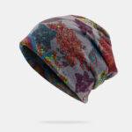 Оригинал              Мода печатных двойного использования Шапка с капюшоном Шапка шарф шапочка