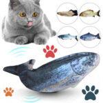 Оригинал              USB Зарядка Электронный Плюш Кот Игрушки Имитация Рыбы Прыжки Рыбы для Питомца Взаимодействия