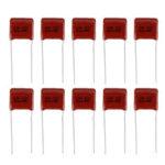 Оригинал              10шт 1 мкФ 450 В CBB полипропиленовая пленка конденсатор с шагом 15 мм 105 450 В 1 мкФ