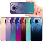 Оригинал              Bakeey для Xiaomi Redmi Note 9 Чехол Gradient Color Закаленное стекло Ударопрочный Защитный от царапин Чехол