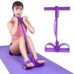 Оригинал              Sit-up Pull Веревка Упражнение с петлей сопротивления Набор Ленты с ручками Упругий резиновый съемник Фитнес Оборудование для упражнений на ра
