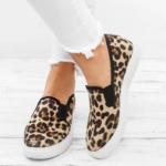 Оригинал              Женщины леопардовым принтом удобные носки случайные скольжения на квартирах