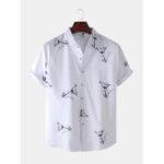Оригинал              Мужская мода абстрактный Soft дышащий Fit удобные повседневные рубашки