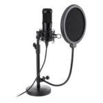 Оригинал              USB-микрофон, Plug & Play NASUM USB-компьютер Кардиоидный микрофон Podcast Конденсаторный микрофон