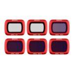 Оригинал              Водонепроницаемое красное покрытие камера Объектив Фильтр 1шт UV CPL ND для DJI MAVIC AIR 2 Дрон