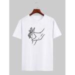 Оригинал              Мужские дышащие футболки с короткими рукавами и принтом Line Line