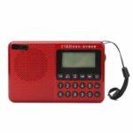 Оригинал              Портативный FM AM SW 21 Bands DSP Цифровой Радио USB TF Карта MP3 Музыкальный Плеер Динамик С Телескопическим Антенна