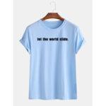Оригинал              Мужская повседневная одежда с надписью Little Tag Loose Crew Шея Футболки с коротким рукавом