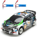 Оригинал              Wltoys K989 с 2 Аккумуляторы 1/28 2.4G 4WD Матовый RC Авто Легковые шасси Автомобили Модель RTR