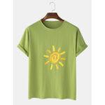 Оригинал              Mens Sun Print Граффити Повседневные футболки с коротким рукавом