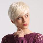 Оригинал              Lady Женское Короткая волна Syntheic Волосы Парик Блондинка с изюминкой Полные парики