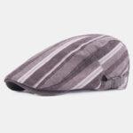 Оригинал              Хлопковые льняные беретные кепки Casual Forward Шапка Colorful в полоску Sun Шапка