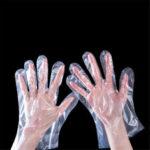 Оригинал              Пищевой Одноразовые Перчатки Прозрачный Пластиковый Приготовления Пищи Сейф Перчатки для Приготовления Пищи Кухня БАРБЕКЮ Очистка