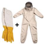 Оригинал              Пчеловодство Набор Anti-bee Suit Bee Protection Экспорт всего тела Комбинезон полный космический костюм Перчатки Пчеловодство и пчеловодство Пиджак