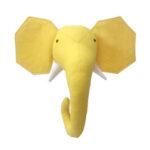Оригинал              Зебра / Слон / Жираф 3D Голова животного Настенное крепление для детей Мягкие игрушки Детская комната